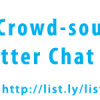The Crowd-sourced Twitter Chat Host List